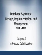 Ch 5 Cita 340 Ppt Database Systems Design Implementation And Management Ninth Edition Chapter 5 Advanced Data Modeling The Extended Entity Course Hero
