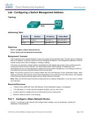 smcneil - 2.3.3.4 Lab - Configuring a Switch Management Address.pdf