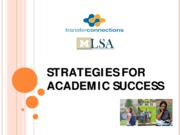 Strategies for Academic Success