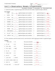 sig figs and rounding answer key - South Pasadena Chemistry Name_KEY ...