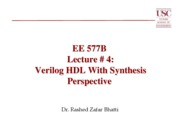 Lecture 4 Verilog HDL with Synthesis