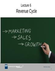AYB221 Lecture 6 Revenue Cycle Sem 1  2016