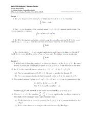 MATH 20E : Vector Calculus - University of California, San Diego