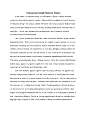 dumpster diving lars essay