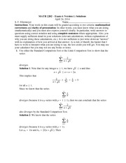 Exam 4 Version 1 Solutions