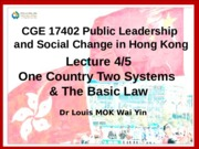 CGE17402 -14-15 Sem B Lecture 4-5