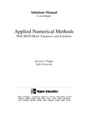 Chapra Applied Numerical Methods With Matlab For Engieers Solutions Manual[1]