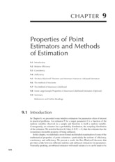 Chapter 9 Properties of Point Estimators