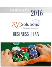 FINAL DRAFT - I am all in to Win - 2016 Agent Business Plan Workbook