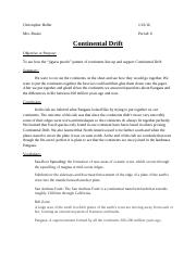lab cover sheet (Continental Drift.docx