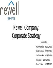 newell company corporate strategy solutions
