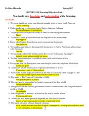 Learning Objectives Unit I (Study guide with answers).docx