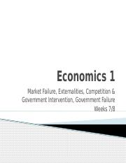 Wk 7-8 - Market  Government Failure (2)