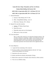 FALL '12 Syllabus ARSX 1100