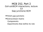 MCB 252 Gap Junctions and EMC Lecture