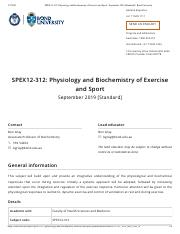 SPEX12-312_ Physiology and Biochemistry of Exercise and Sport - September 2019 [Standard] _ Bond Uni