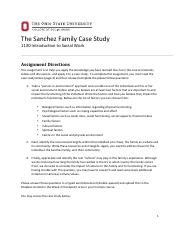 SWK 1130 Sanchez Family Case Study