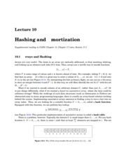 Hashing and mortization notes