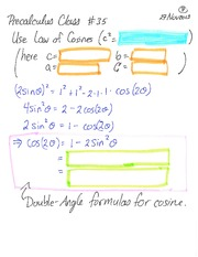Pre-Calculus 11 Using Law of Cosine Class Notes