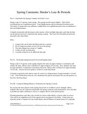 Spring Constants Hookes Law and Periods.pdf