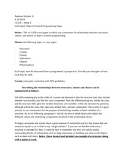oop essay Download essay submissions the hierarchy of folders present in the downloaded zip file is explained through an example example: quiz scenario a quiz (programming tutorial) has an essay question (question no: 3, question name: oop concept) requiring attachments/files to be submitted in response by students.