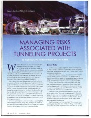 Managing Risks Associated with Tunneling Projects