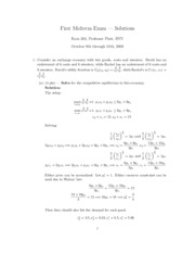 Midterm Solutions1