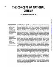 The Concept of National Cinema