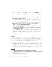 Insurance-Accounting Regulation Actuarial Science