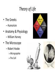 Theory of Life-Biology100