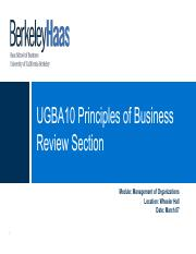 UGBA10 - Mgmt Org Module - Review Section - S18.pptx.pdf