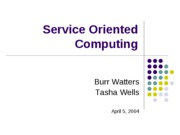 Talk-ServiceOrientedComputing