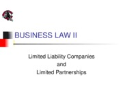 LLCs and Limited Partnerships