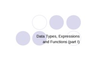 Types-expressions-functions