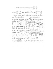Lecture on Eigen Value Problems