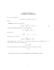 Math 155a_Class Notes on Trigonometric Functions