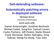 automatic-patching-sosp2009-slides