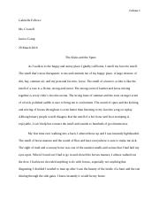 The barn descriptive essay