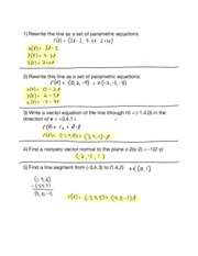 Hw06 12.5 Equations of Lines and Planes