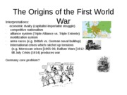 102  -13 - The Origins of the First World War