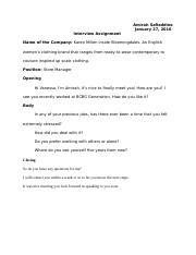 Interview Assignment