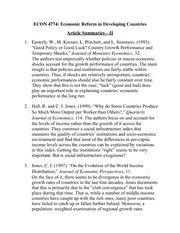 ECON 4774 Article Summaries Assignment 1