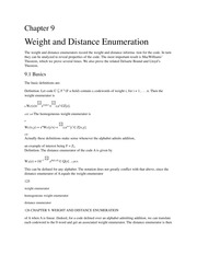 Weight and Distance Enumeration