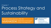 Process Strategy and Sustainability
