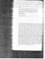 "Ranstorp, Magnus – ""The Israeli Palestinian Peace Process- The Strategic Art of Deception"""