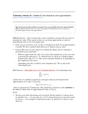 Lecture 23 (Series Estimations and Error Bounds)