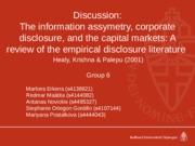 Group 6 Discussion Healy and Palepu (2001)