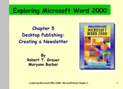 Word Chapter 5 - Desktop Publishing - Notes