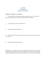 Law Exam 1 Study Guide