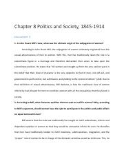 Chapter 8 - Politics and Society, 1845-1914